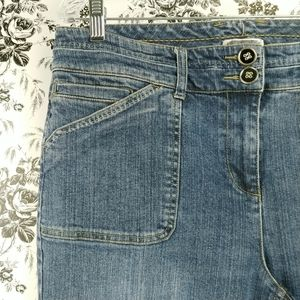 Christopher & Banks boot cut stretch jeans sz 12